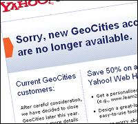 Yahoo GeoCities